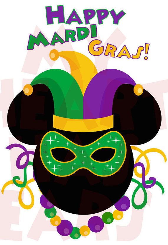 570x830 Printable Diy Mickey Mouse Mardi Gras Disney Digital Clip Art By
