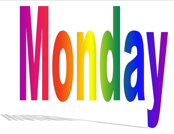 736x568 Monday Clip Art Days Of The Week (Sung To The Tune If Youre Happy