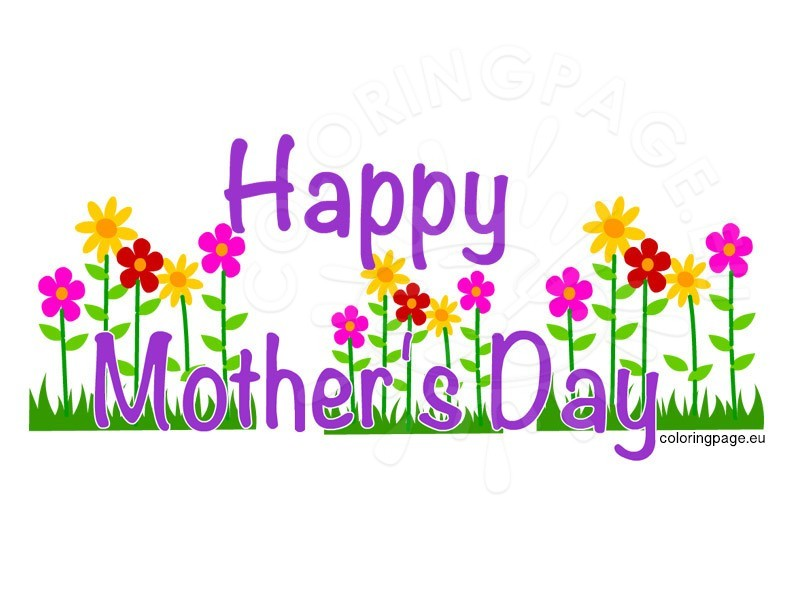 793x595 Happy Mother's Day Clip Art Coloring Page