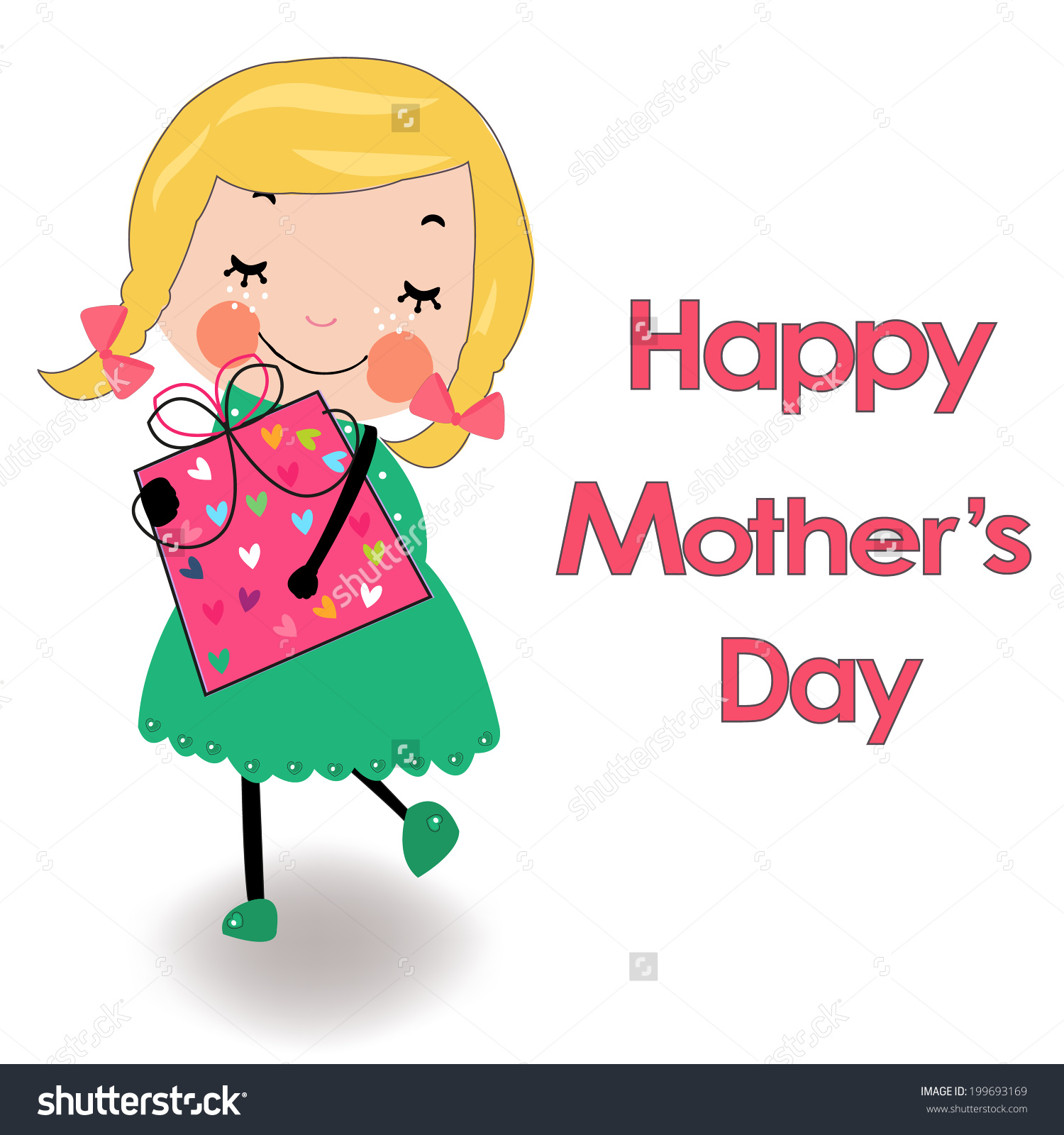 1500x1600 Mother's Day Clipart Cartoon