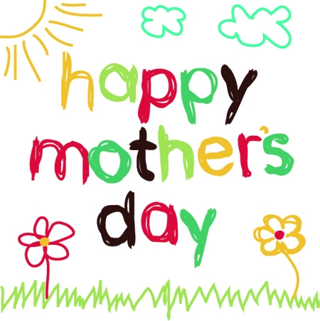 450x451 Mothers Day Happy Mother'Day Clip Art Clipart Card Front