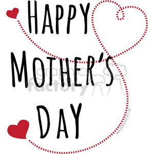 300x300 Royalty Free Happy Mothers Day Love 394847 Vector Clip Art Image