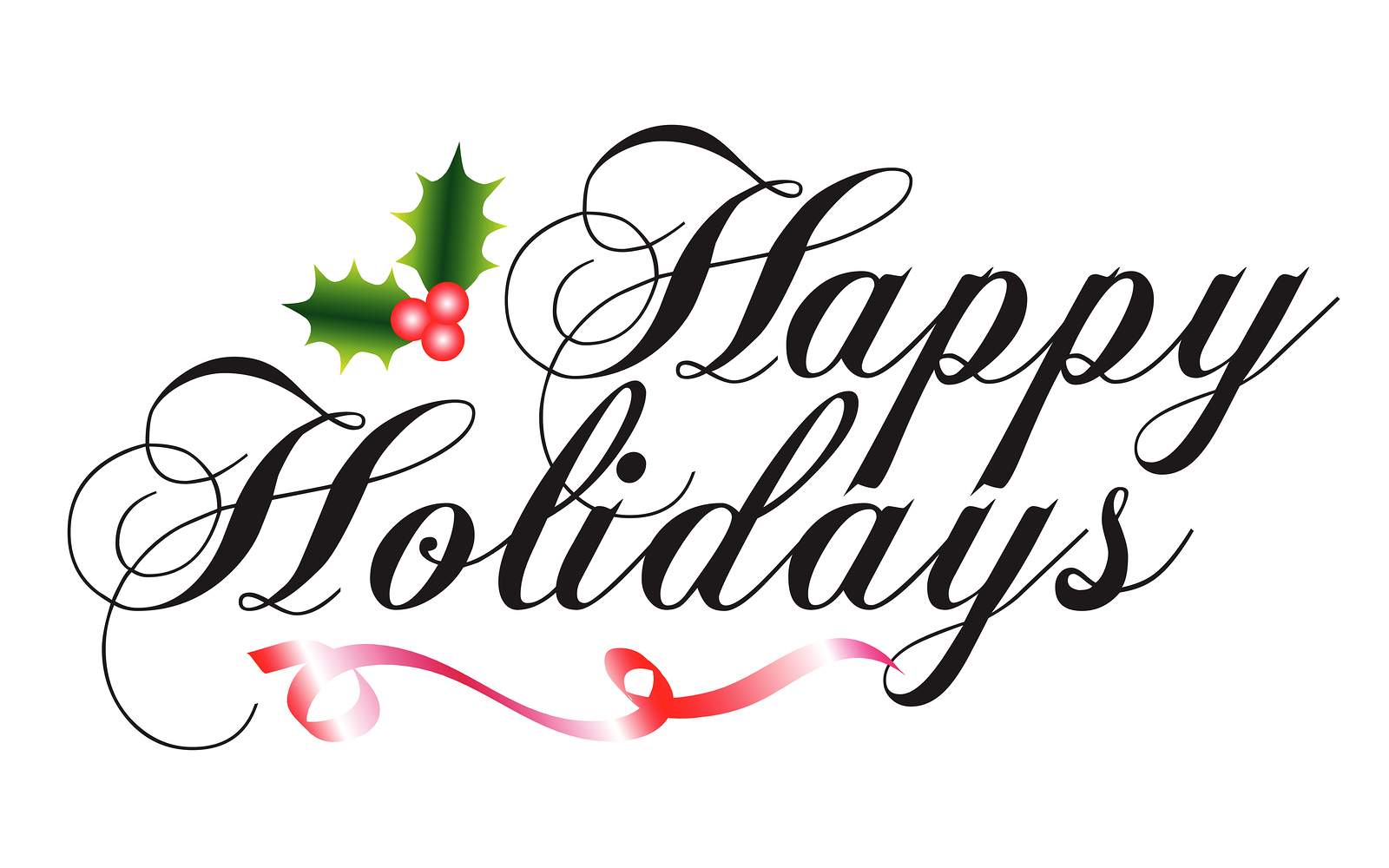 1600x1000 Happy Holidays Banner Clipart