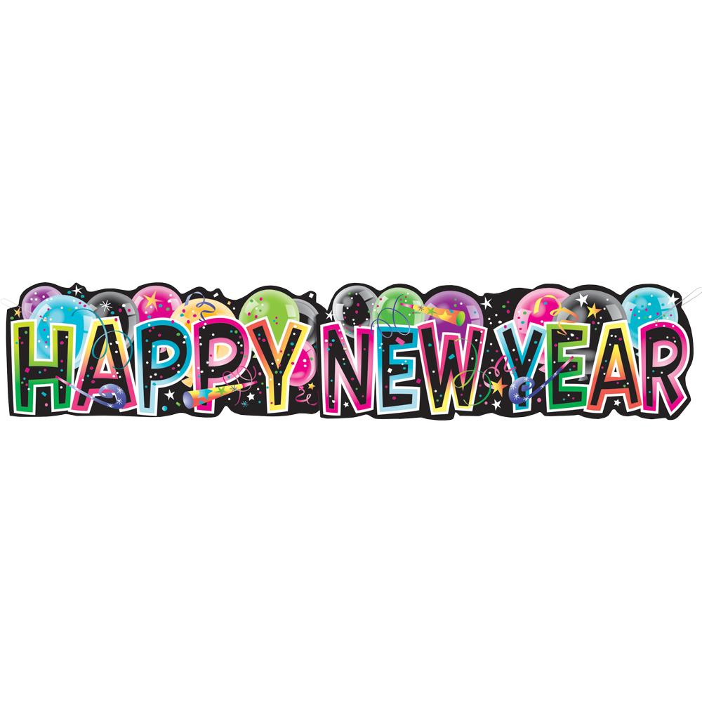 1000x1000 Hapy New Year Banner Happy New Year Red Banner Transparent Png