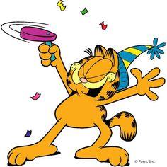 236x236 Garfield Happy New Year Cartoon Character