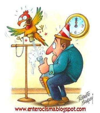 350x394 Happy New Year! By Roberto Mangosi Philosophy Cartoon Toonpool