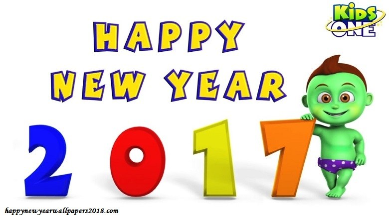 780x438 happy new year 2018 cartoon wallpapers for kids