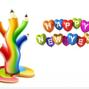 300x300 Happy New Year Cartoon Wallpaper