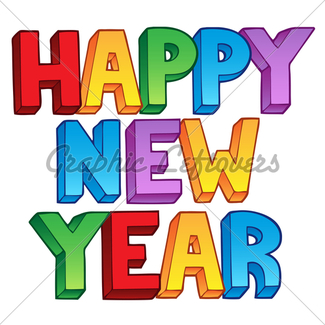 325x325 Happy New Year Sign Gl Stock Images
