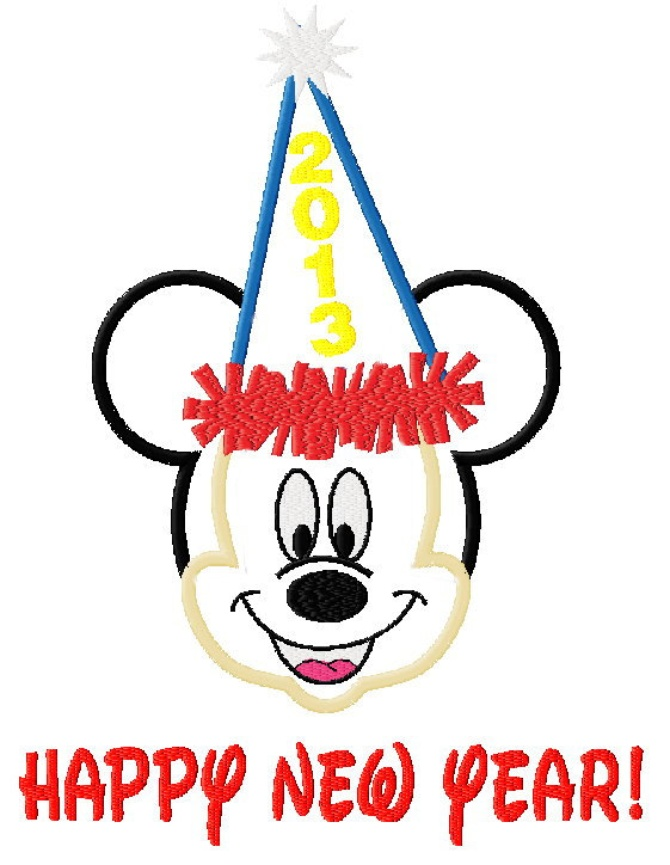 670x865 Mickey Mouse Happy New Year Clipart