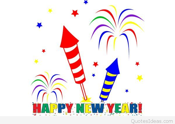 600x427 New Year Fireworks Clip Art Happy Holidays!