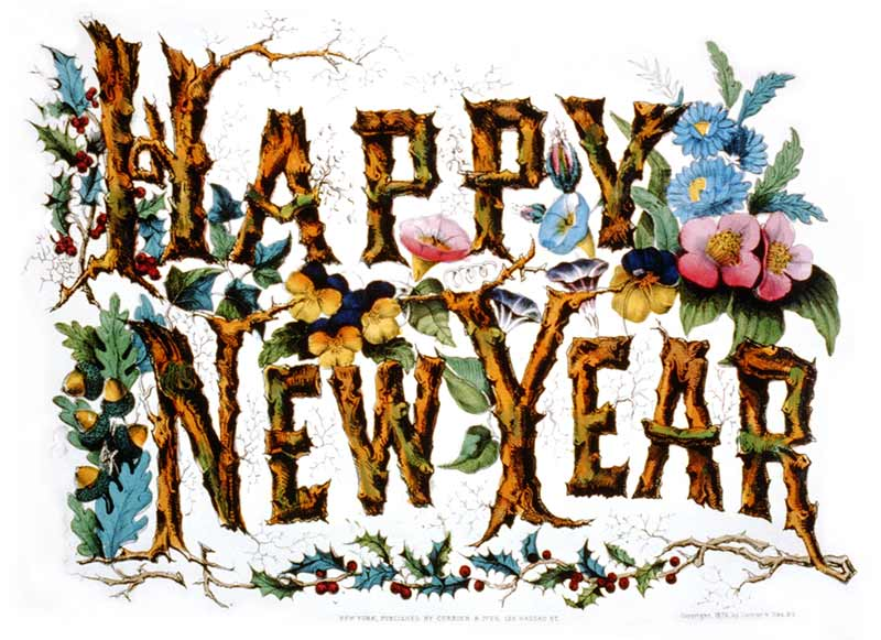 800x581 Victorian Happy New Year Clip Art