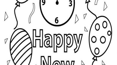 500x280 Luxury New Years Coloring Pages Coloring Pages Activities