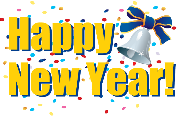 600x395 New Year Clipart Coloring Page