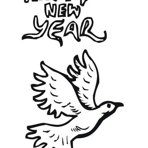 300x300 Pigeon Says Joyful And Happy 2015 New Year Coloring Page Color Luna