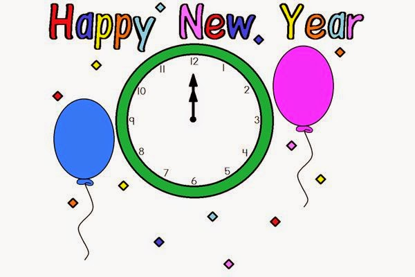 600x400 The Holiday Site Happy New Year's Coloring Pages