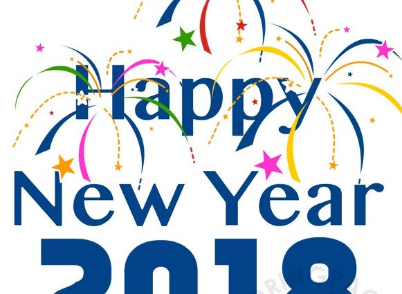 581x425 Happy New Year 2018 Clipart Colorful Fireworks Happy New Year 2018