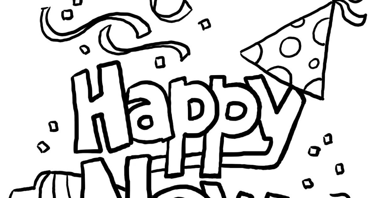 1200x630 Happy New Year Coloring Pages