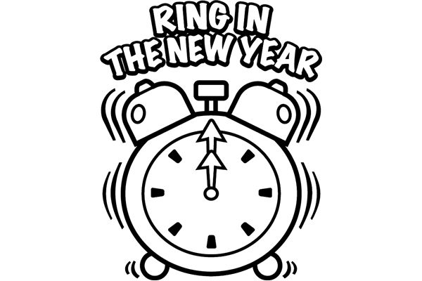 600x400 Time To Happy New Year 2015 Coloring Pages For Kids