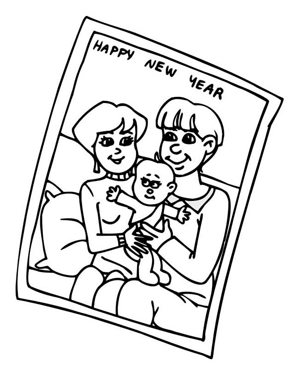 600x738 Baby New Year In A Hurry For New Years Party Colouring Page Baby