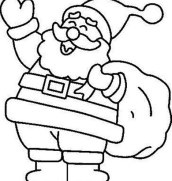 580x610 Christmas Coloring Pictures Santa Merry Christmas Amp Happy New
