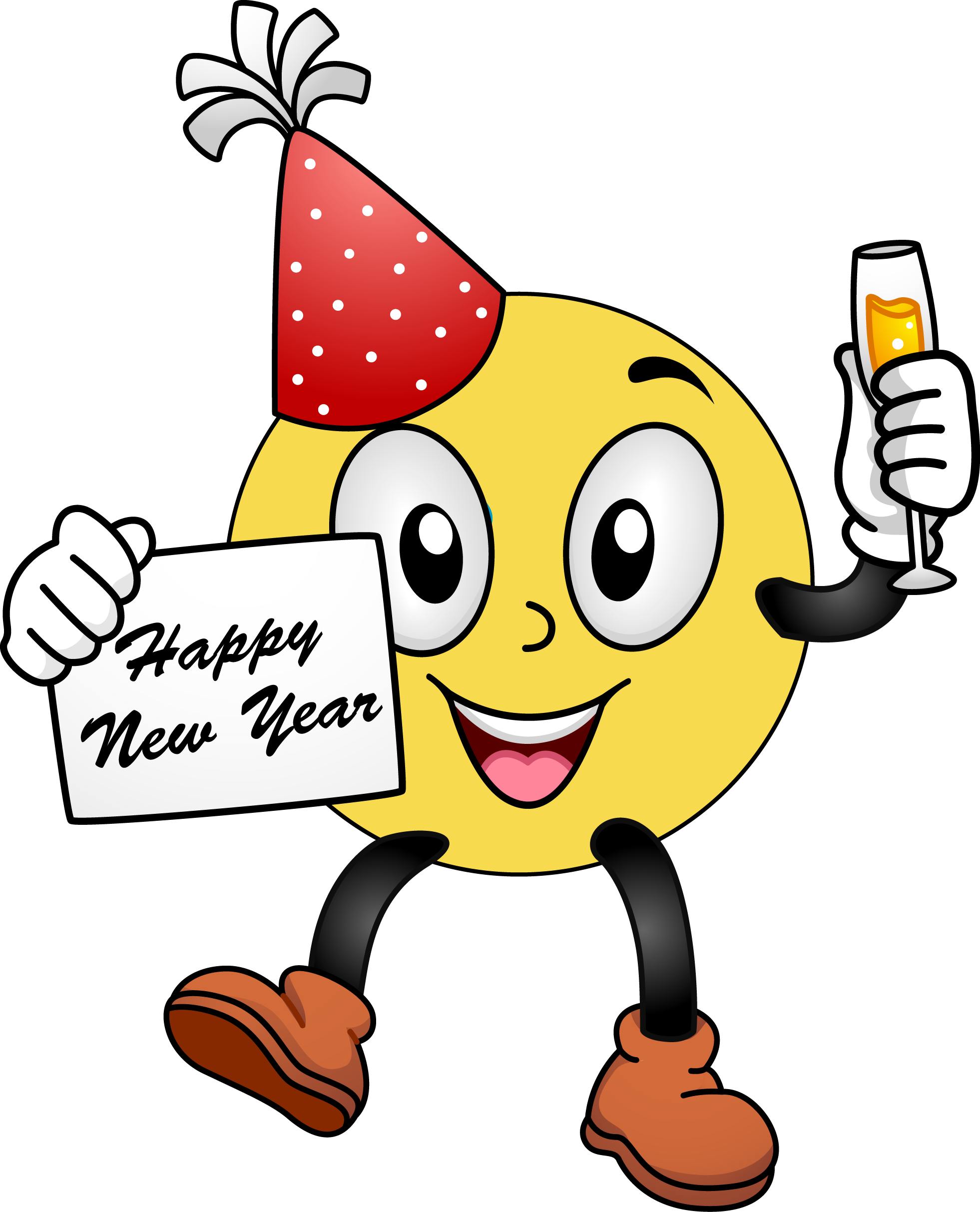 1962x2426 Happy New Year Smiley Face Clip Art
