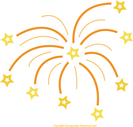 448x427 Fireworks Clipart Happy New Year