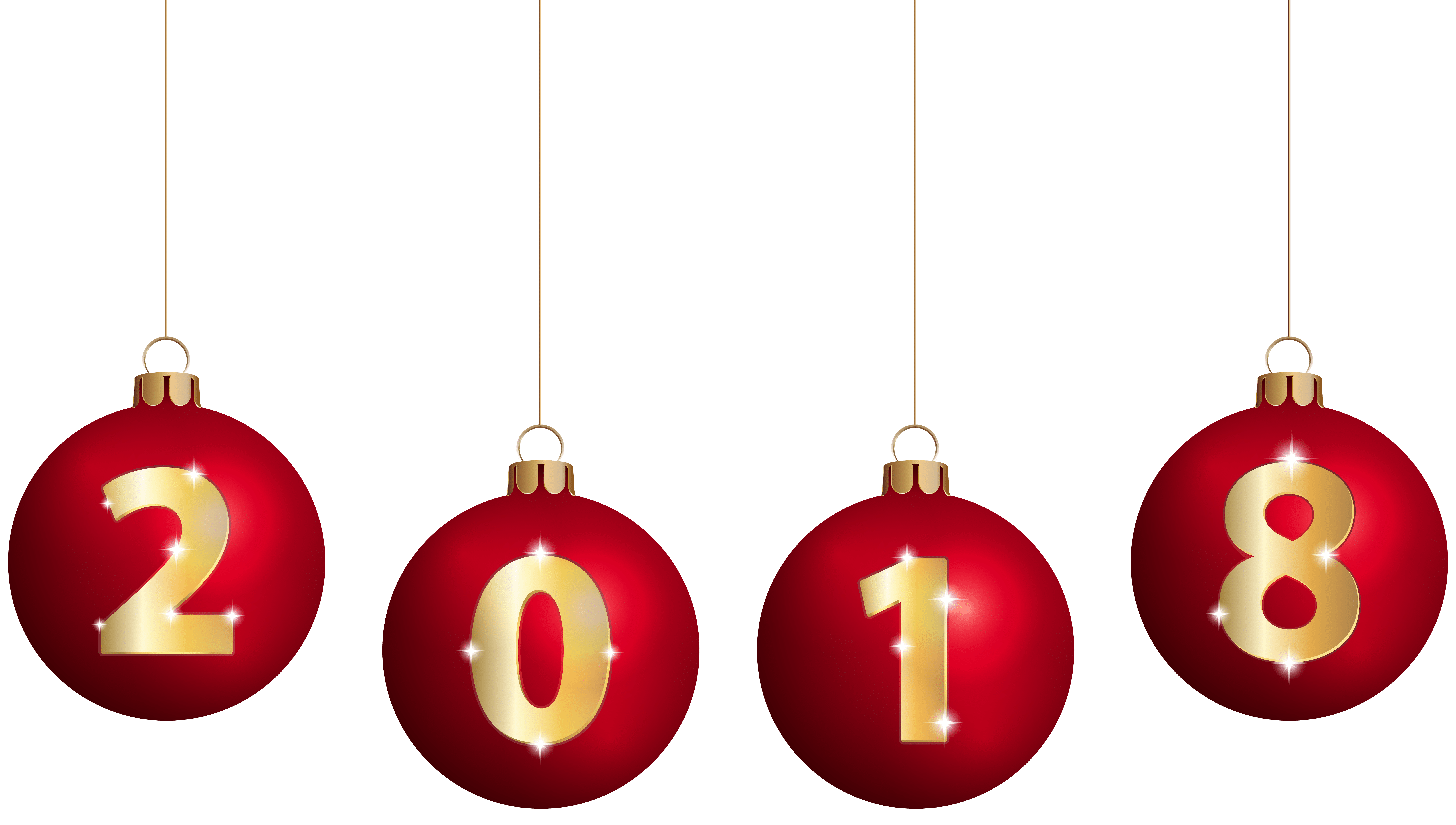 8000x4533 Latast Happy New Year 2018 Png