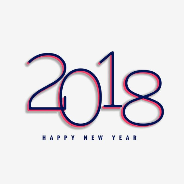 640x640 2018 Happy New Year Design Background, 2018, New, Year Png