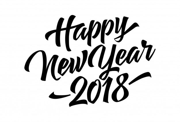 626x425 Happy New Year 2018 Fonthappy New Year 2018 Lettering Vector Free