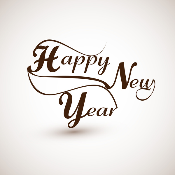 600x600 Beautiful Calligraphic Text Design For Happy New Year Illustration