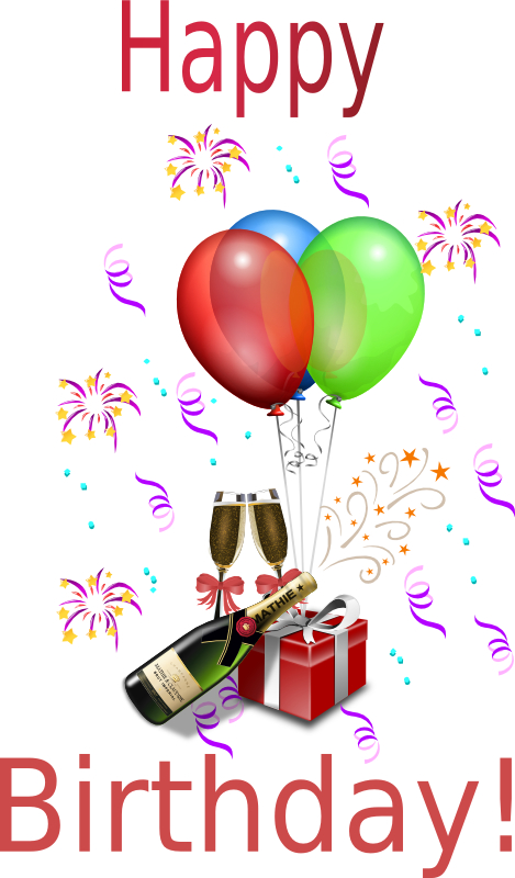 469x800 New Year Clipart Birthday Champagne