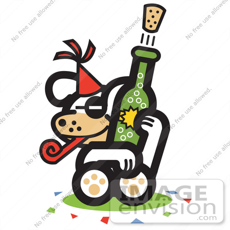450x450 New Year Clipart Wine Party