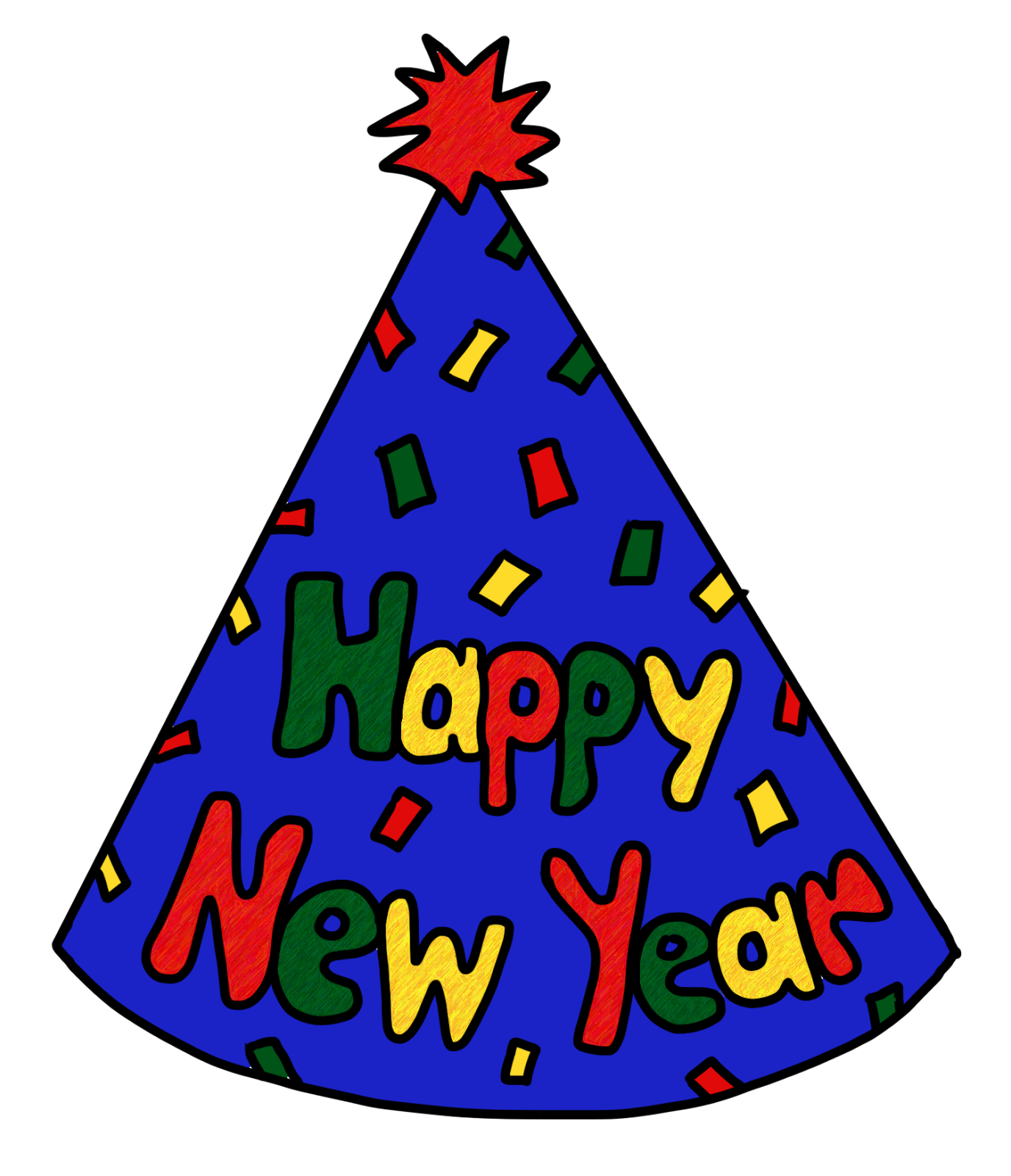 1376x1600 Clip Art By Carrie Teaching First Happy New Year Party Hat Freebie