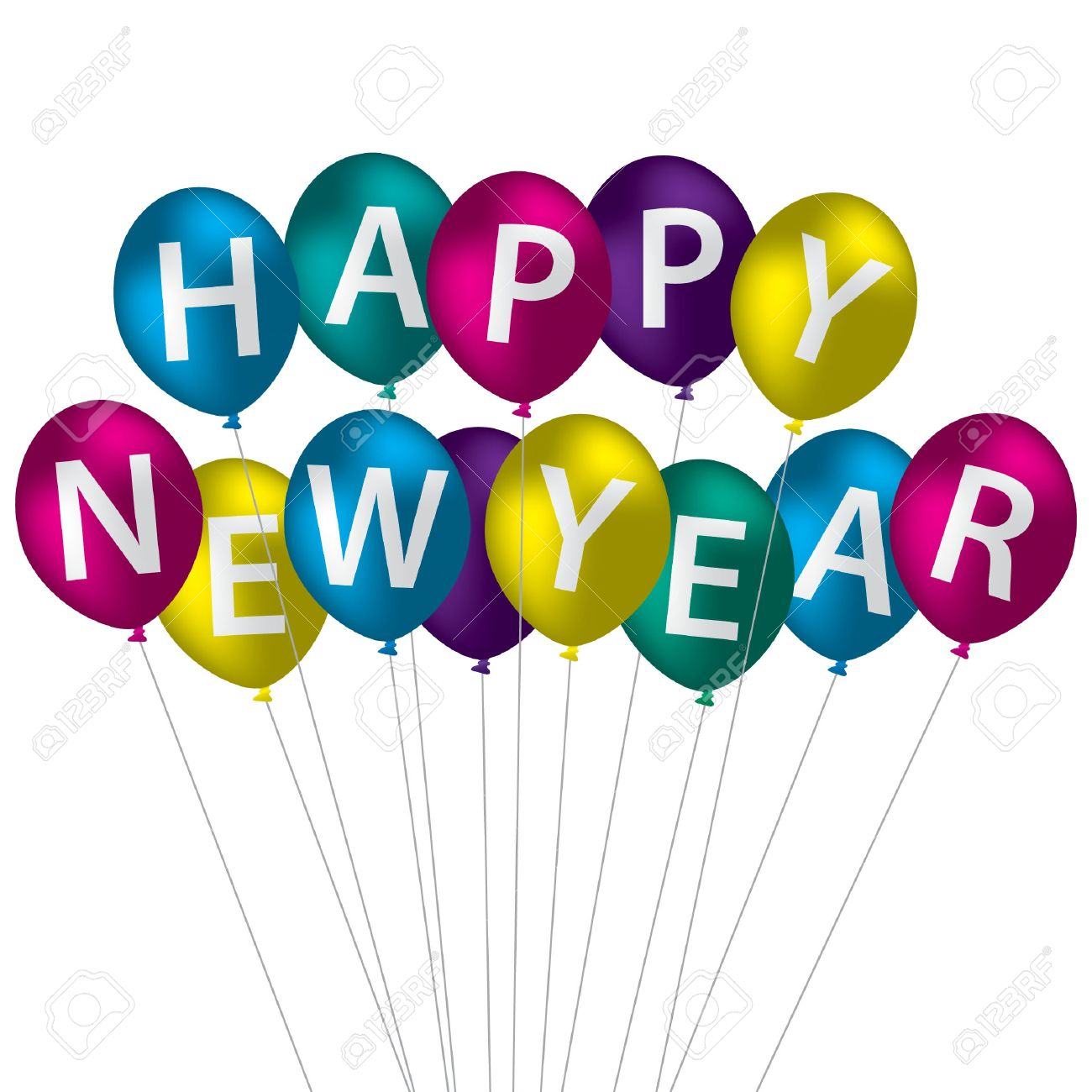 1300x1300 New Year Clipart Balloon