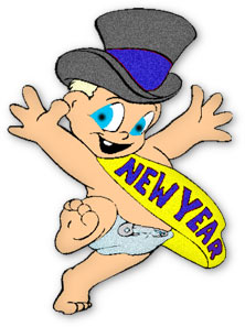 222x297 Baby New Year Clip Art