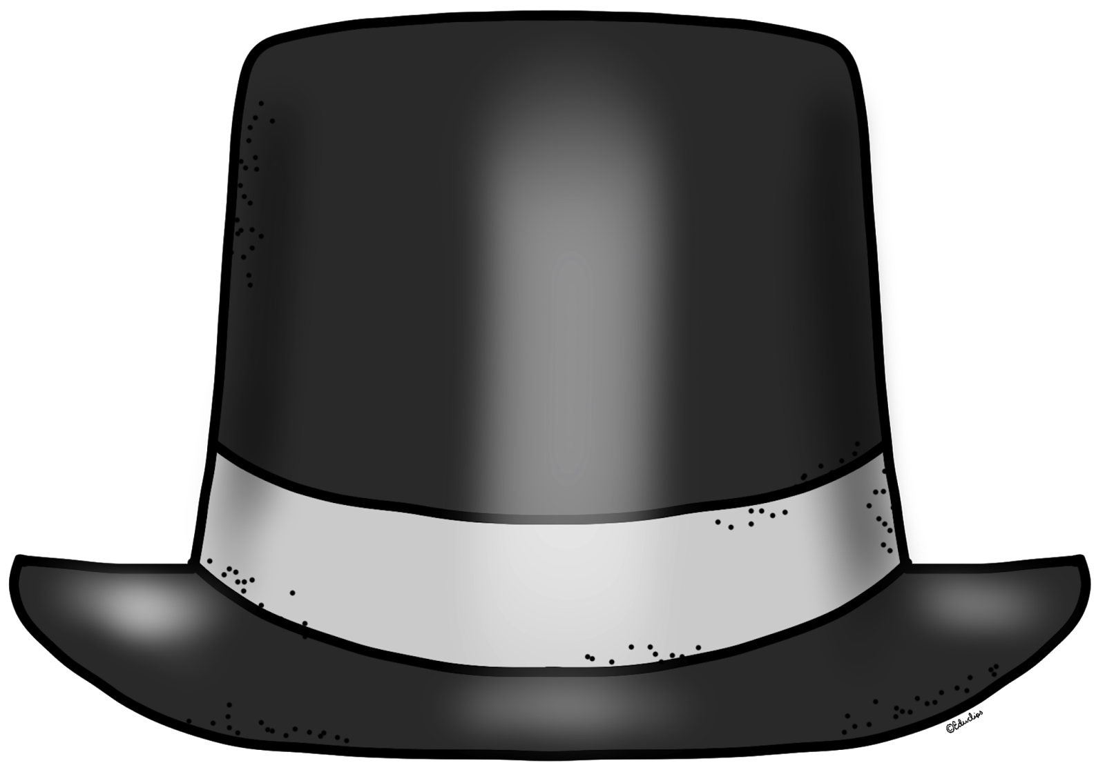 1600x1119 New Year Clipart Top Hat