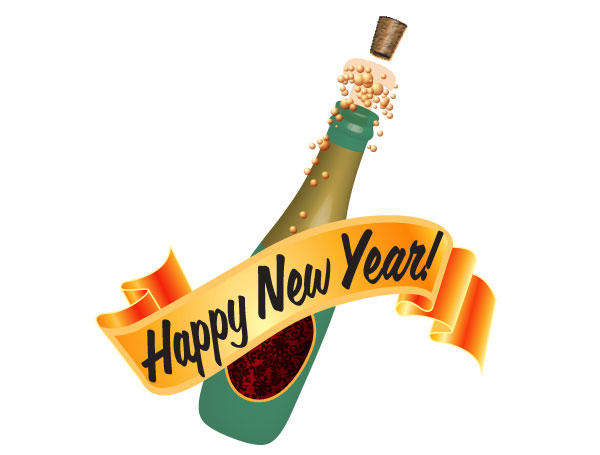 600x455 Champagne Bottle New Year Clip Art Merry Christmas Amp Happy New