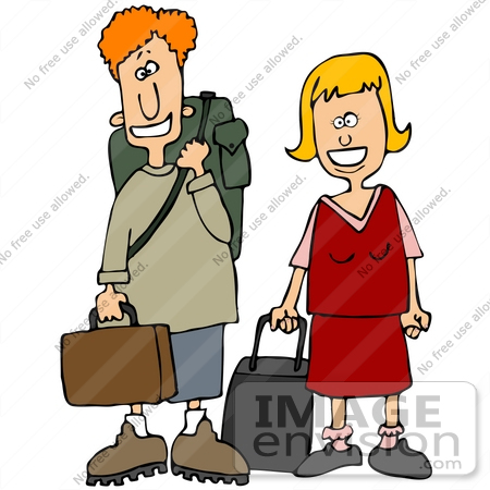 450x450 Clip Art Graphic Of A Happy Young Caucasian Couple, Could Be