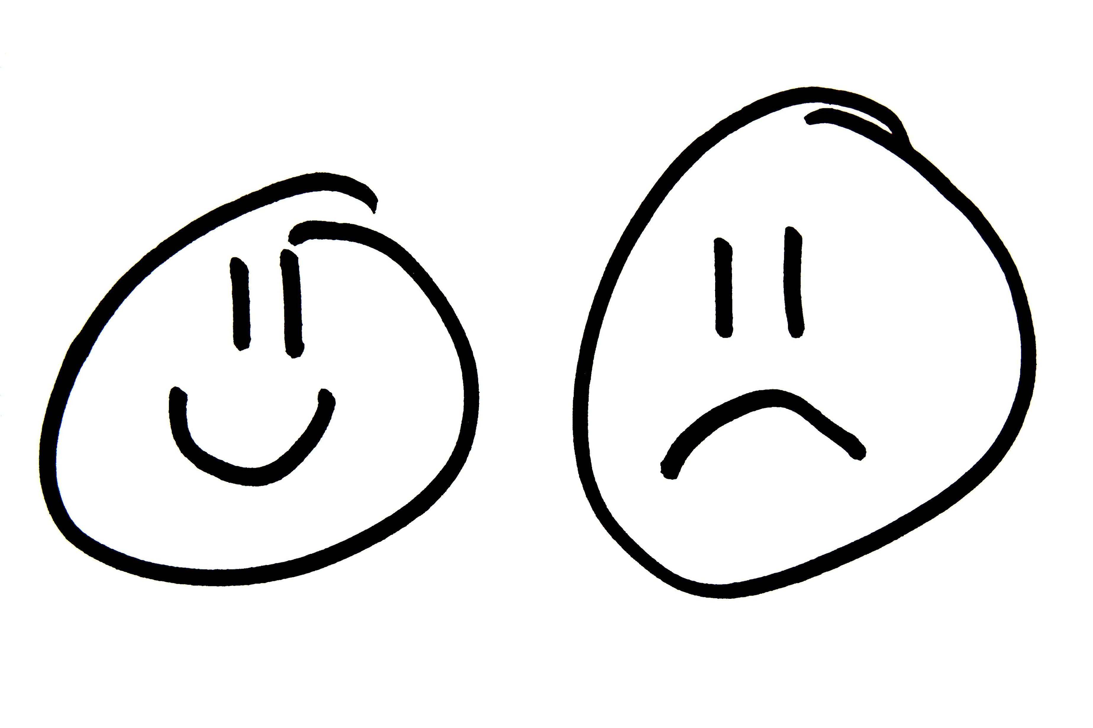 3694x2462 Happy Sad Clipart
