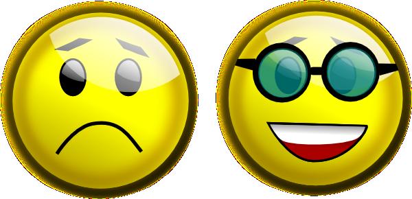 600x290 Smiley Glasses Sad Clip Art