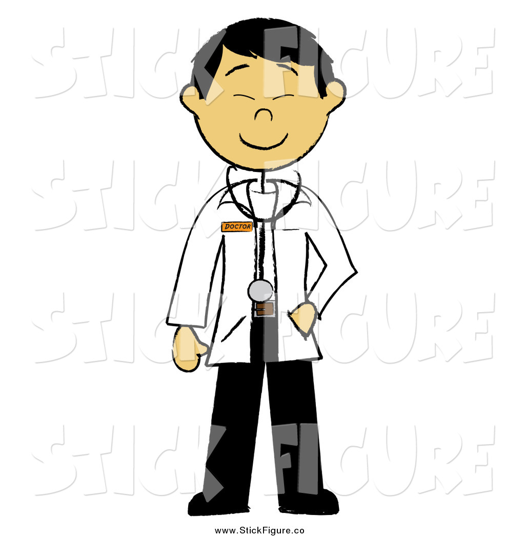 1024x1044 Clip Art Of A Happy Stick Male Asian Doctor By Pams Clipart