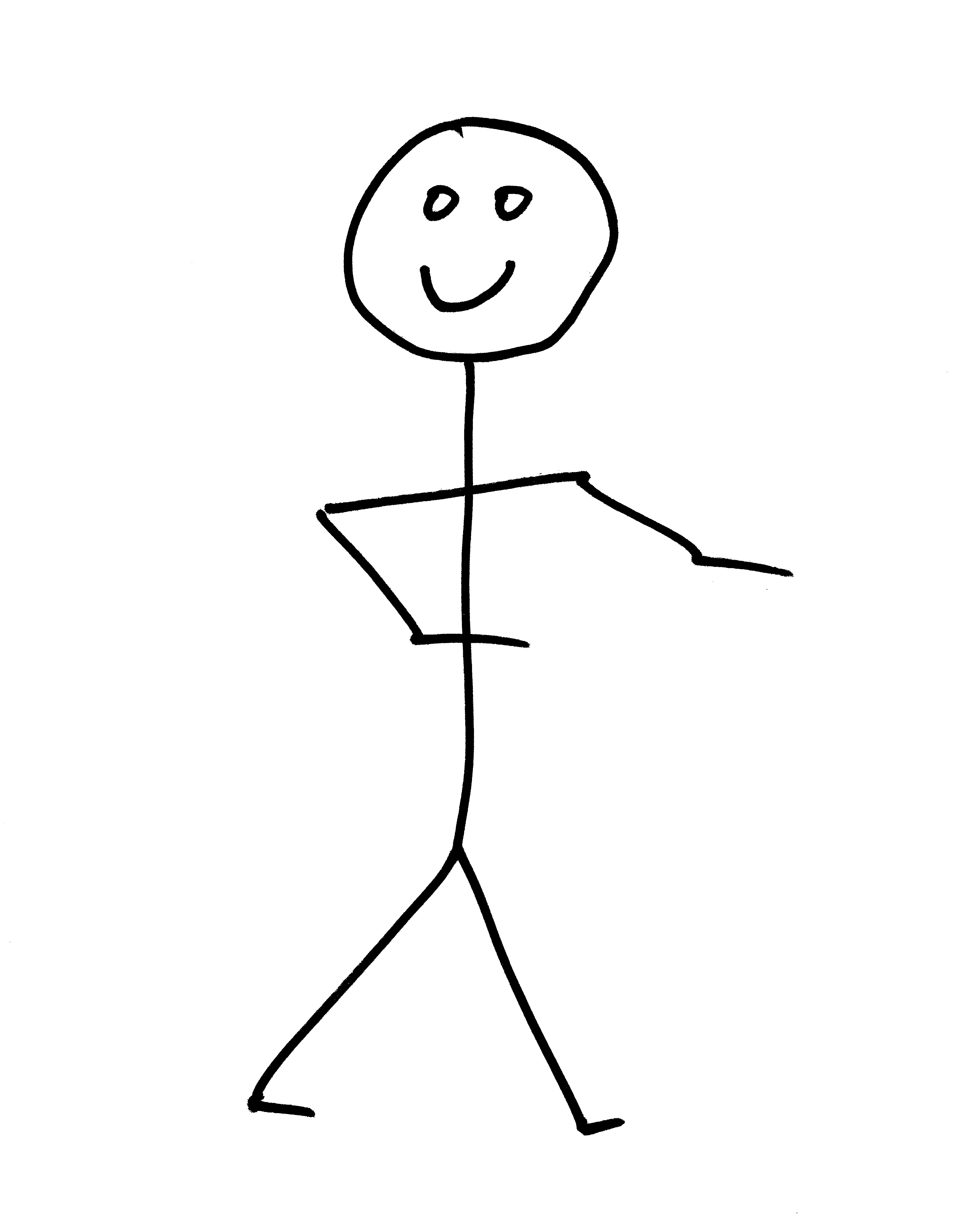 3600x4500 Smiling Stick Figure Person Picture Free Photograph Photos