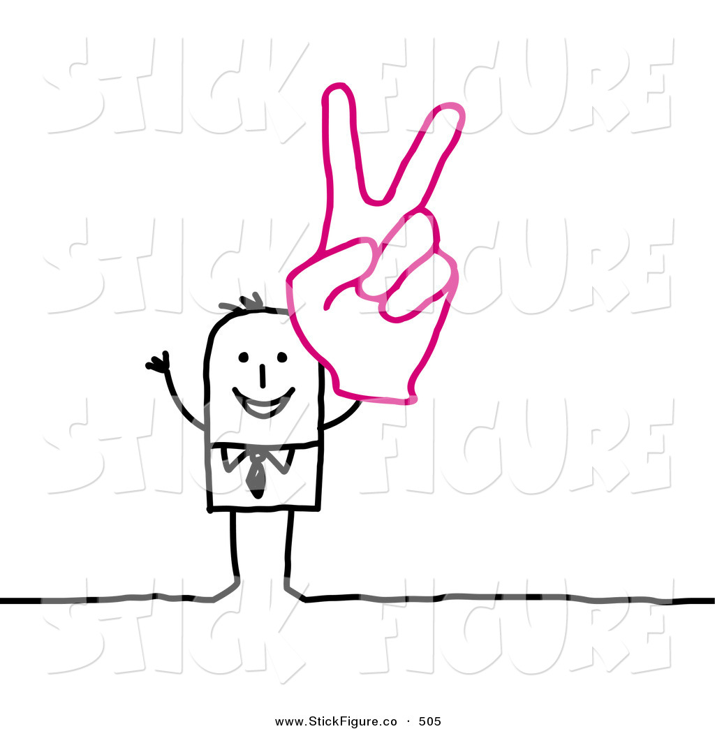 1024x1044 Clip Art Of A Happy Stick Figure People Character Wearing A Giant