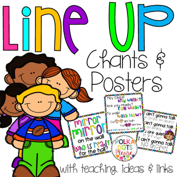 350x350 Line Up Chants Posters Classroom Management, Students