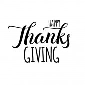170x170 Happy Thanksgiving Day Gold Hand Lettering On White Background
