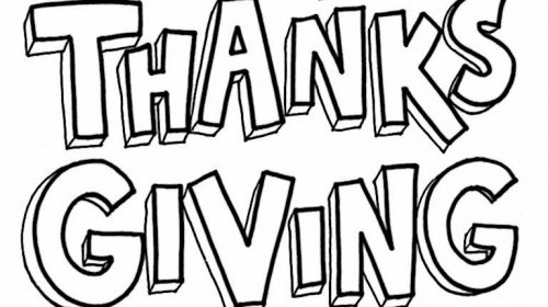 500x280 Awesome Thanksgiving Pictures To Color And Print Free Coloring