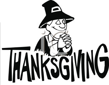 350x273 Black And White Christian Thanksgiving Clipart
