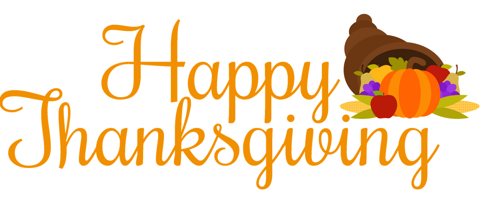 1600x653 Happy Thanksgiving Turkey Clipart