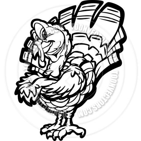 460x460 Happy Thanksgiving Holiday Turkey Cartoon Vector Illustration By